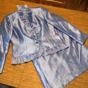KASPER lined 2 Pc Skirt Jacket Set Size 14